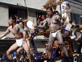 Sanja Matsuri, not only a large festival, but the best time to see some Yakuza tats, Japan