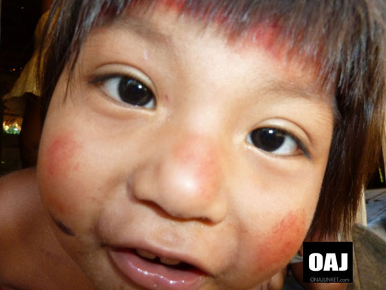 A Huaorani Child asks for a close up.