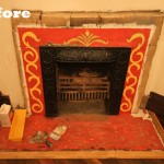 Camel And Chocolate remodel fireplace