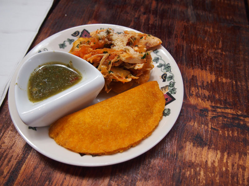 Colombian empanadas and patacones tasted during Miami food tour