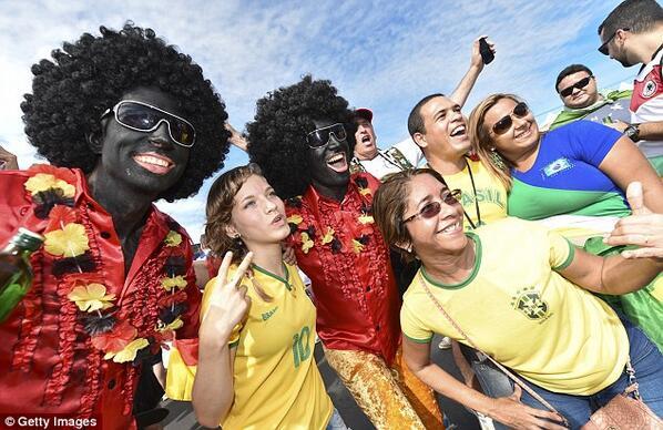 ghana black face word cup fans