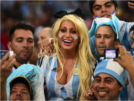 World cup fans hot girls for