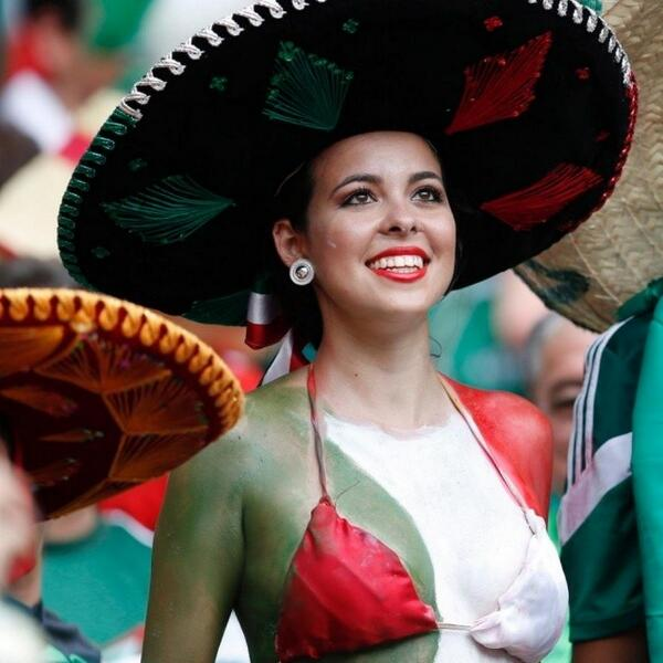 mexico, world cup, hot girl, fan