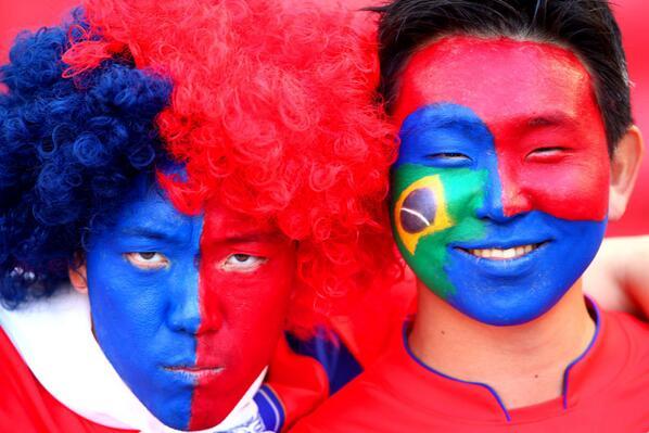 world cup fans, 2014, brasil