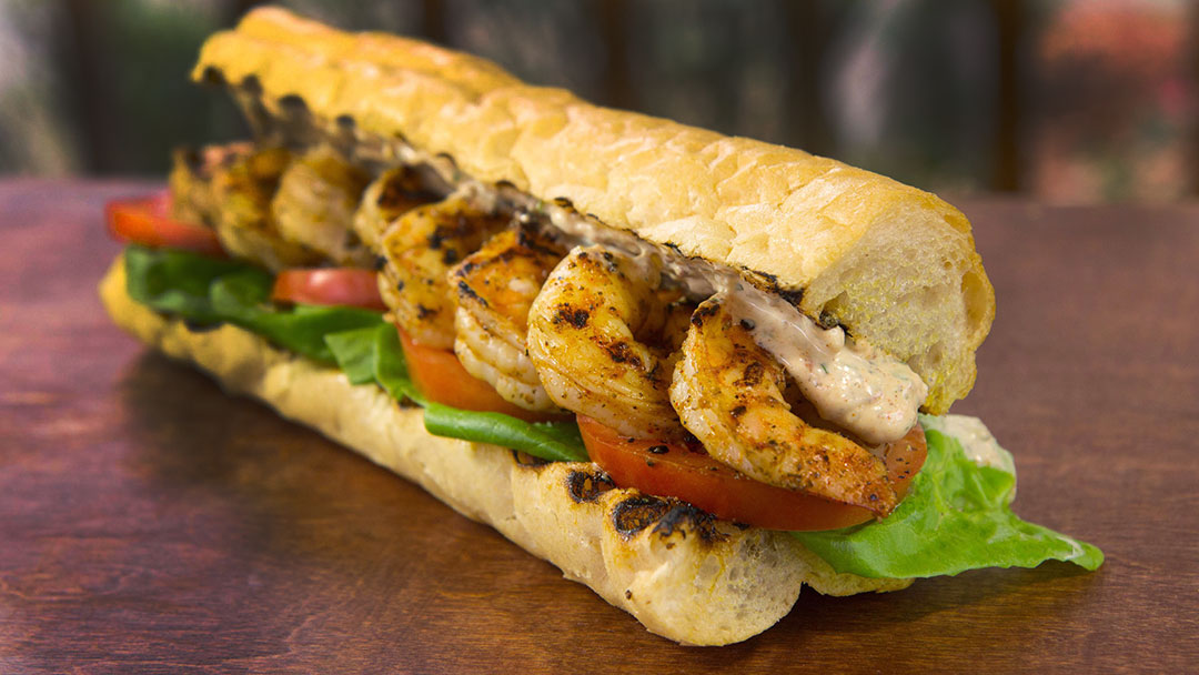 Remoulade sauce on po boy sandwich
