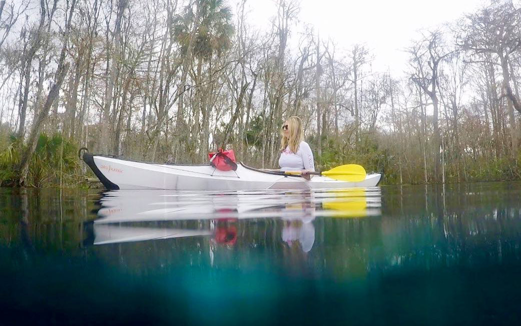 Kayaking in a Florida Spring.