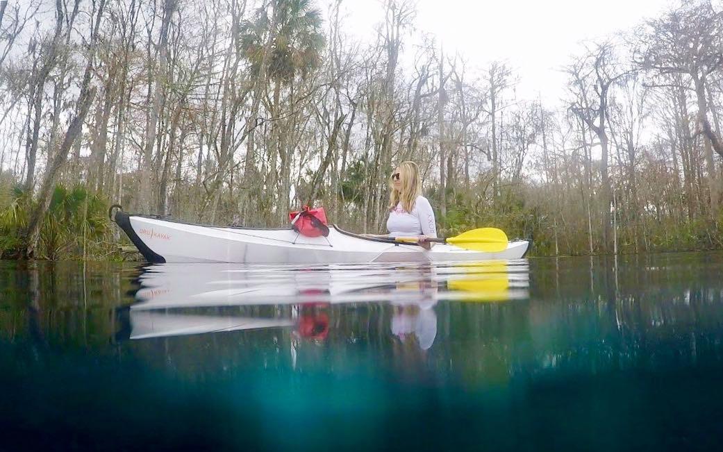 Kayaking in a Florida Spring.